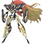 clenched_hands looking_ahead mecha no_humans official_art science_fiction solo standing super_robot super_robot_wars super_robot_wars_x-omega transparent_background van_ein yellow_eyes