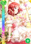 blush character_name dress love_live!_school_idol_festival love_live!_school_idol_project nishikino_maki redhead short_hair smile violet_eyes