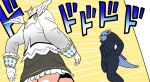 1girl amane_kanata axolotl black_skirt dodododo from_behind hand_in_pocket highres hololive jojo_no_kimyou_na_bouken long_sleeves meme minecraft ninomae_ina'nis_(artist) oh?_you're_approaching_me? parody skirt style_parody tail walking white_hair wings