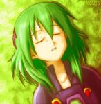 androgynous closed_eyes futaba_tsukasa green_hair rockman ryuusei_no_rockman sleeping solo