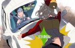 adachi_tohru adachi_tooru black_hair cabbage car crash doujima_nanako good_end grey_hair harumai izanami motor_vehicle narukami_yuu persona persona_4 seta_souji vehicle