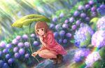 blush brown_hair dress green_eyes idolmaster_cinderella_girls_starlight_stage kitami_yuzu short_hair smile