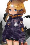 1girl abigail_williams_(fate) absurdres bandaid bandaid_on_forehead bangs black_bow black_jacket blonde_hair blue_eyes bow breasts crossed_bandaids fate/grand_order fate_(series) forehead fuuro hair_bow hair_bun heroic_spirit_traveling_outfit high_collar highres huge_filesize jacket long_hair long_sleeves multiple_bows orange_belt orange_bow parted_bangs polka_dot polka_dot_bow sleeves_past_fingers sleeves_past_wrists small_breasts stuffed_animal stuffed_toy teddy_bear tentacles