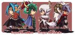 4boys armor armored_boots assassin_cross_(ragnarok_online) bangs black_cape black_coat black_footwear black_pants black_sclera black_shirt black_wings blue_cape blue_eyes blue_hair boots braid braided_ponytail breastplate cape capelet character_request chibi closed_mouth coat colored_sclera commentary_request copyright_name cross crossover diadem dragon_chronicle dragon_tail emon-yu full_body fur-trimmed_capelet fur_trim gauntlets green_armor green_eyes green_hair hair_between_eyes halo head_wings high_priest_(ragnarok_online) high_wizard_(ragnarok_online) horns layered_clothing leg_armor long_hair long_sleeves looking_at_another looking_back lord_knight_(ragnarok_online) male_focus multiple_boys open_mouth pants parted_bangs pauldrons pink_hair plume pointy_ears ragnarok_online red_capelet red_eyes red_scarf scarf shirt shoes short_hair shoulder_armor single_braid skull skull_on_head slit_pupils smile spiked_gauntlets tail vambraces visor_(armor) waist_cape white_coat white_footwear white_hair white_pants white_wings wings