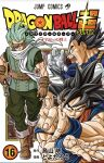 3boys armor black_eyes black_hair bodysuit boots building character_request copyright_name cover cover_page covered_eyes dougi dragon_ball dragon_ball_super fighting_stance foreshortening from_side gloves green_eyes green_hair gun highres holding holding_gun holding_weapon long_hair male_focus manga_cover multiple_boys muscular muscular_male official_art open_mouth outdoors saiyan_armor scarf skin_tight sleeveless sleeveless_jacket smirk son_goku spiky_hair teeth toyotarou translation_request v-shaped_eyebrows vegeta walking weapon white_background wristband