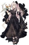 1girl bangs bare_shoulders black_bow black_dress bow commentary_request drag-on_dragoon drag-on_dragoon_3 dragon dress flower flower_over_eye hair_ornament hairpin highres holding holding_sword holding_weapon long_hair lunar_tear mikhail_(drag-on_dragoon) nier_(series) nier_reincarnation official_alternate_costume parted_lips red_eyes rolling_anco simple_background sword very_long_hair weapon white_background wide_sleeves zero_(drag-on_dragoon)