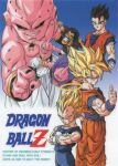 1990s_(style) 6+boys afro aqua_eyes black_eyes black_nails black_sclera blonde_hair cape closed_eyes colored_sclera colored_skin copyright_name crossed_arms dougi dragon_ball dragon_ball_z facial_hair gloves gradient gradient_background grin halo highres kid_buu looking_at_viewer majin_buu mr._satan multiple_boys muscular muscular_male mustache official_art pink_skin pointing pointing_at_viewer red_eyes retro_artstyle saiyan scan serious smile son_gohan son_goku spiky_hair super_saiyan thumbs_up torn_clothes vegeta widow's_peak wristband