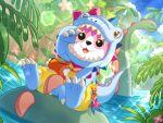 animal_costume bang_dream! bear hoodie mascot michelle_(bang_dream!) smile