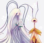 blush bug couple flower grey_mourner hollow_knight insect masyu_ori moth no_humans praying_mantis traitor's_child white_flower