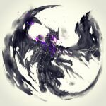 dark_souls_iii darkeater_midir dragon full_body highres no_humans open_mouth shimhaq signature souls_(series) spread_wings