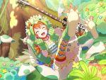 animal_costume bang_dream! blush closed_eyes kitazawa_hagumi orange_hair short_hair smile