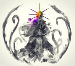 1boy arrow_(projectile) bow_(weapon) closed_mouth crown dark_souls_i dark_sun_gwyndolin facing_viewer grey_background headpiece highres holding holding_arrow holding_bow_(weapon) holding_weapon male_focus shimhaq simple_background solo souls_(series) standing tentacles weapon