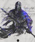 1boy armor cape dark_souls_iii facing_viewer full_armor helmet highres holding holding_sword holding_weapon male_focus shimhaq sir_vilhelm solo souls_(series) sword weapon