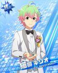 blonde_hair character_name green_eyes groom idolmaster idolmaster_side-m jacket nekoyanagi_kirio short_hair smile