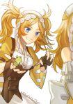 1girl blonde_hair blue_eyes fire_emblem fire_emblem:_awakening fire_emblem:_kakusei frog lissa_(fire_emblem) mischievous pigtails prank small_breasts smirk yellow_dress