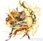 1girl absurdres arrow_(projectile) blonde_hair bow_(weapon) braid circlet earrings fingerless_gloves fire_emblem fire_emblem:_genealogy_of_the_holy_war fire_emblem_heroes full_body fur_trim gladiator_sandals gloves highres holding holding_bow_(weapon) holding_weapon hoop_earrings jewelry long_hair necklace official_art sandals shiny simple_background single_thighhigh suzuki_rika thigh-highs toeless_footwear ullr_(fire_emblem) very_long_hair weapon white_background yellow_eyes yewfelle_(fire_emblem)