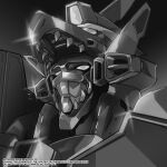absurdres artist_name dynazenon_(character) greyscale gridman_universe highres looking_up mecha monochrome no_humans portrait science_fiction solo ssss.dynazenon super_robot vistahero watermark