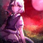 1girl highres izayoi_sakuya light mozuno_(mozya_7) one-hour_drawing_challenge shadow sky solo touhou
