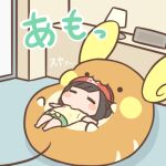 1girl alolan_form alolan_raichu bangs barefoot beanie bed blush_stickers cafe_(chuu_no_ouchi) chibi closed_eyes commentary_request gen_7_pokemon green_shorts hat indoors lamp lowres lying medium_hair nibbling on_back on_bed outstretched_arms pillow pokemon pokemon_(creature) pokemon_(game) pokemon_sm red_headwear selene_(pokemon) shirt short_sleeves shorts t-shirt tied_shirt yellow_shirt