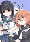 2girls commentary_request controller game_controller hatsuyuki_(ka kantai_collection mochizuki_(kancolle) multiple_girls okitarou_(okiyo)