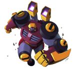 clenched_hands decepticon insignia jeetdoh looking_to_the_side mecha no_humans red_eyes science_fiction shoulder_cannon solo strika transformers transformers_animated white_background