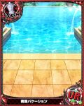 card_(medium) chess_piece day high_school_dxd no_humans official_art pool queen_(chess) trading_card translation_request tropical water