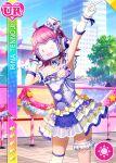 armpits character_name covered_face love_live!_nijigasaki_high_school_idol_club love_live!_school_idol_festival pink_hair short_hair smile tennouji_rina