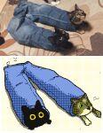animal_focus animated animated_gif blue_pants cat denim flipnote_studio_(medium) jeans keke_(kokorokeke) lowres no_humans original pants reference_photo_inset