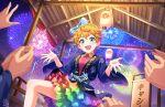blue_eyes blush cathy_graham dress idolmaster_cinderella_girls_starlight_stage orange_hair short_hair yukata