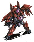 arm_cannon character_request decepticon gatling_gun insignia marble-v mecha no_humans open_hands red_eyes science_fiction solo transformers weapon white_background