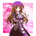 breasts cleavage dress gradient_hair green_eyes hijiri_byakuren long_hair multicolored_hair touhou