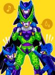 cell_(dragon_ball) cell_junior dragon_ball dragon_ball_z musical_note pink_eyes sweatdrop