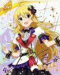blonde_hair blush character_name dress green_eyes hoshii_miki idolmaster_million_live!_theater_days long_hair