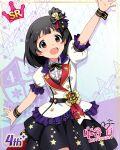 black_hair blush character_name dress idolmaster_million_live!_theater_days nakatani_iku red_eyes short_hair smile