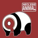 animal animal_focus blood english_text engrish_text full_body gurageida headless no_humans original panda ranguage red_background simple_background