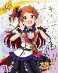 blush character_name dress idolmaster_million_live!_theater_days long_hair oogami_tamaki orange_hair smile yellow_eyes