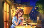 blue_eyes blush dress furusawa_yoriko glasses idolmaster_cinderella_girls_starlight_stage long_hair redhead
