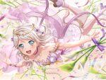 bang_dream! blush dress green_eyes grey_hair short_hair smile wakamiya_eve