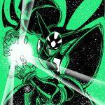 black_shin_getter energy_ball getter_robo getter_robo_arc green_background green_theme horns mecha no_humans solo spikes stoner_sunshine tsushima_naoto wings