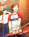 character_name idolmaster idolmaster_side-m red_eyes redhead shirt short_hair smile tendou_teru