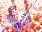 bang_dream! blush dress long_hair purple_hair red_eyes smile udagawa_ako