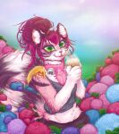 absurdres cute flower furry furry_female highres kaefertaxi kawaii oc original persona summer
