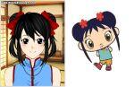 black_hair blue_shirt breasts brown_eyes female girl kai-lan necklace ni_hao_kai-lan nickelodeon red_bow