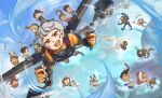 1other 6+boys 6+girls absurdres ambiguous_gender animal_on_head animification apex_legends arc_star bangalore_(apex_legends) beige_tank_top bird bird_on_head black_hair black_pants black_scarf blonde_hair bloodhound_(apex_legends) blue_eyes brown_eyes brown_hair caustic_(apex_legends) chibi crying crypto_(apex_legends) dark-skinned_female dark-skinned_male dark_skin double_bun drone everyone explosive flying fuse_(apex_legends) gas_mask gibraltar_(apex_legends) glowing glowing_eyes goggles goggles_on_head gradient_hair green_vest grenade grey_hair hack_(apex_legends) hair_behind_ear headband helmet highres horizon_(apex_legends) huge_filesize humanoid_robot in-universe_location jetpack juggling lifeline_(apex_legends) loba_(apex_legends) long_hair looking_down looking_to_the_side mirage_(apex_legends) missile_pod multicolored_hair multiple_boys multiple_girls octane_(apex_legends) olympus_(apex_legends) on_head one-eyed one_eye_covered orange_eyes pants pathfinder_(apex_legends) rampart_(apex_legends) red_bandana red_eyes redhead revenant_(apex_legends) sanmi_(t_sanmi) scarf science_fiction shadow shield short_hair simulacrum_(titanfall) syringe_in_head valkyrie_(apex_legends) vest wattson_(apex_legends) white_headband wraith_(apex_legends) yellow_eyes