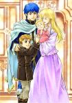 blonde_hair brother_and_sister cape child closed_eyes couple delmud delmud_(fire_emblem) family fin finn_(fire_emblem) fire_emblem fire_emblem:_seisen_no_keifu fire_emblem_genealogy_of_the_holy_war lachesis lachesis_(fire_emblem) long_hair nanna nanna_(fire_emblem) siblings smile young