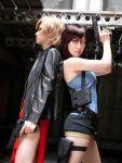 alice_(resident_evil) capcom cosplay gun jill_valentine resident_evil