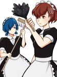1boy 1girl arisato_minato auburn_hair blue_eyes blue_hair female_protagonist_(persona_3) persona_3 red_eyes yuuki_makoto