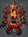 dairoku_youhei full_body gears grey_background lights no_humans robot simple_background sumi0siba
