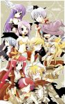 4boys 6+girls animal_on_head ark_kan armor assassin_cross_(ragnarok_online) bangs bikini black_cat black_coat black_eyes black_headwear black_shirt blonde_hair blue_hair blush bow breasts brown_cape brown_dress brown_eyes cape cat cat_on_head champion_(ragnarok_online) choker closed_eyes closed_mouth clothing_cutout coat commentary_request creator_(ragnarok_online) cross cross_necklace crossed_arms detached_sleeves dress eyebrows_visible_through_hair fur-trimmed_cape fur-trimmed_sleeves fur_trim glasses gloves grin gypsy_(ragnarok_online) hair_between_eyes hat head_wings high_priest_(ragnarok_online) high_wizard_(ragnarok_online) hooded_coat jewelry juliet_sleeves layered_clothing living_clothes long_hair long_sleeves looking_at_another medium_breasts medium_hair multicolored multicolored_wings multiple_boys multiple_girls navel necklace on_head open_clothes open_coat open_mouth open_shirt orange_wings pauldrons pink_hair pointy_ears puffy_sleeves purple_hair purple_sleeves ragnarok_online red-framed_eyewear red_cape red_coat red_dress red_scarf sash scarf shirt short_dress short_hair shoulder_armor sleeveless_coat small_breasts smile stalker_(ragnarok_online) stomach_cutout strapless strapless_bikini swimsuit teeth torn_scarf two-tone_coat two-tone_dress upper_body white_coat white_dress white_gloves white_hair white_sash wings yellow_bikini yellow_bow