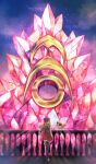 1girl bare_arms black_footwear black_legwear black_shirt blonde_hair boots breasts commentary_request eyelashes eyewear_on_headwear fence fennekin gen_6_pokemon hat high-waist_skirt long_hair looking_to_the_side pink_bag pleated_skirt pokemon pokemon_(creature) pokemon_(game) pokemon_xy red_skirt serena_(pokemon) shirt skirt sleeveless sleeveless_shirt sunglasses thigh-highs yomogi_(black-elf)